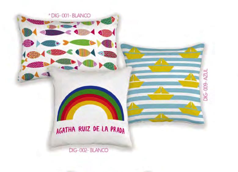 Agatha Ruiz De La Prada Cojines.Fundas De Cojin Collection Happy Agatha Ruiz De La Prada