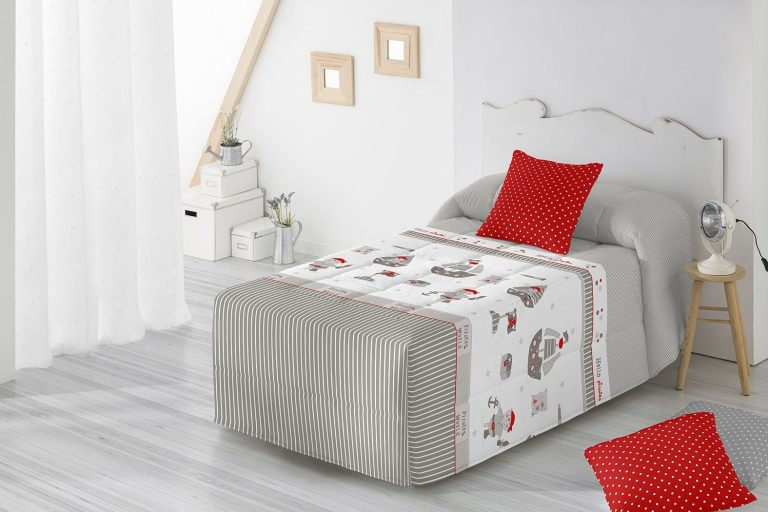Edredon Conforter Barbadella Infantil Darko Gris