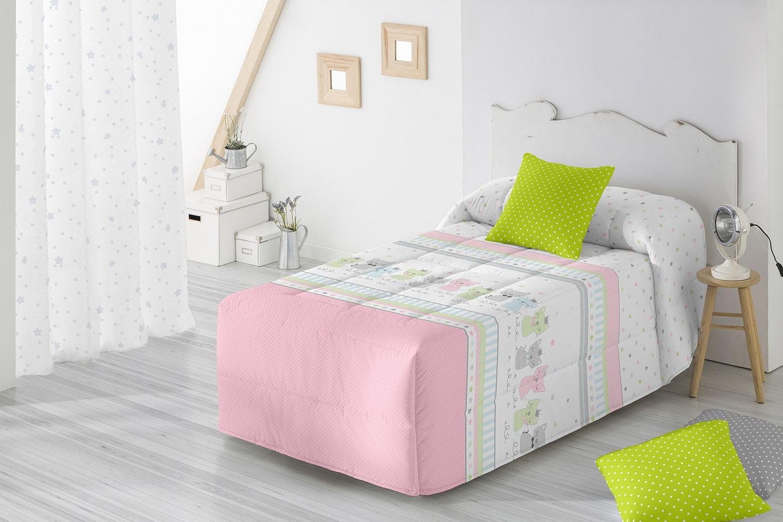 Edredon Conforter Barbadella Infantil Puka Rosa