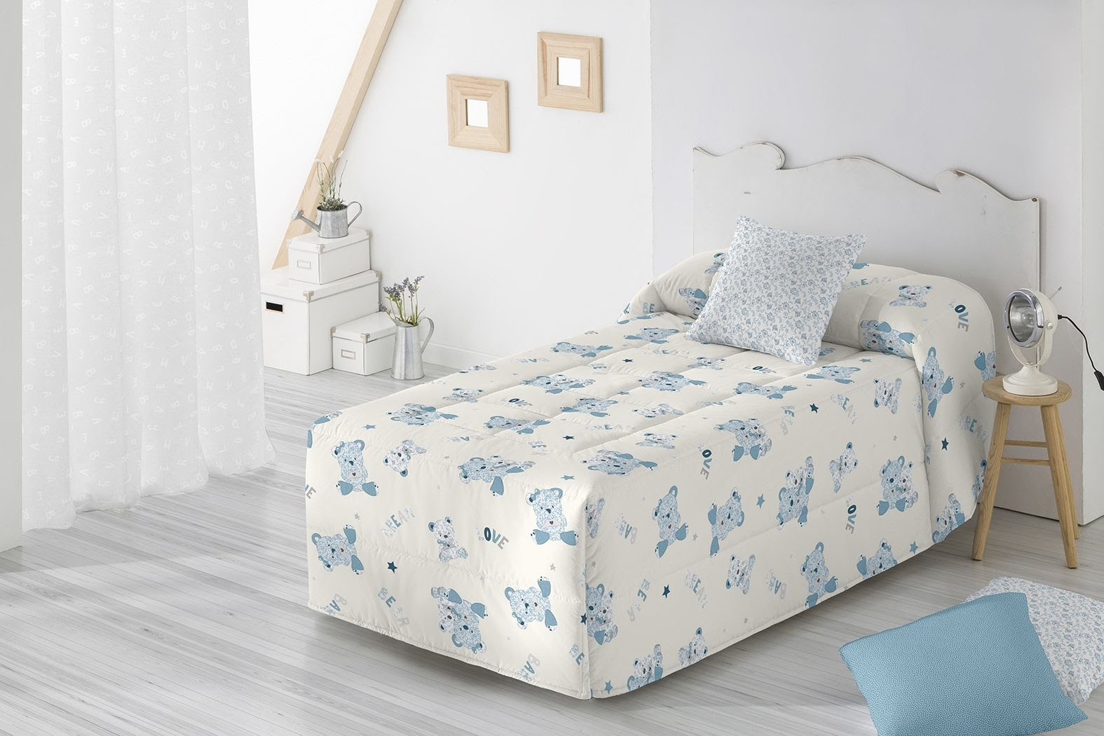 Edredon Conforter Barbadella Infantil Misha Azul