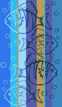 Toalla Playa Surtida PECES Azul