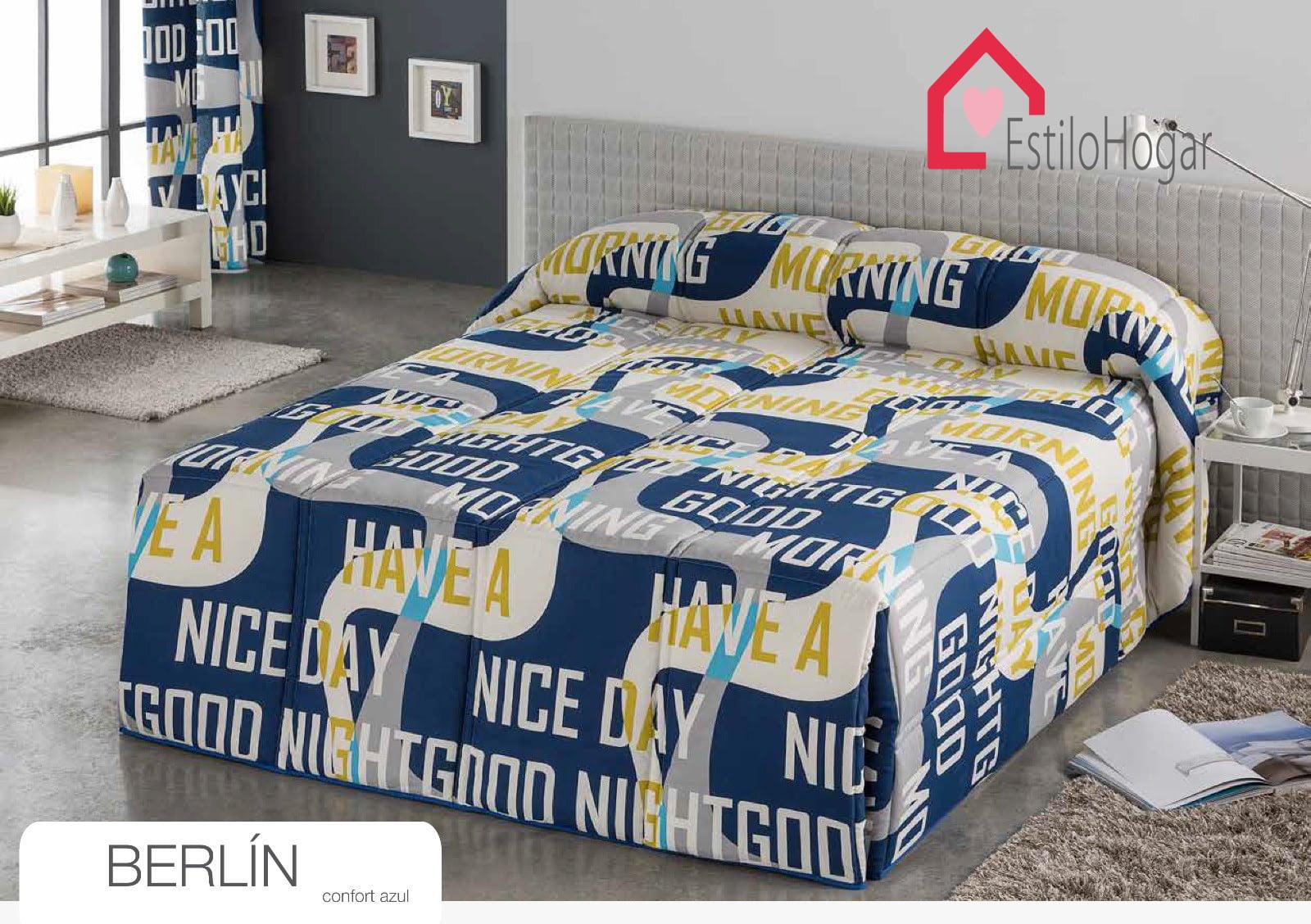 Edredon Conforter Berlin Azul