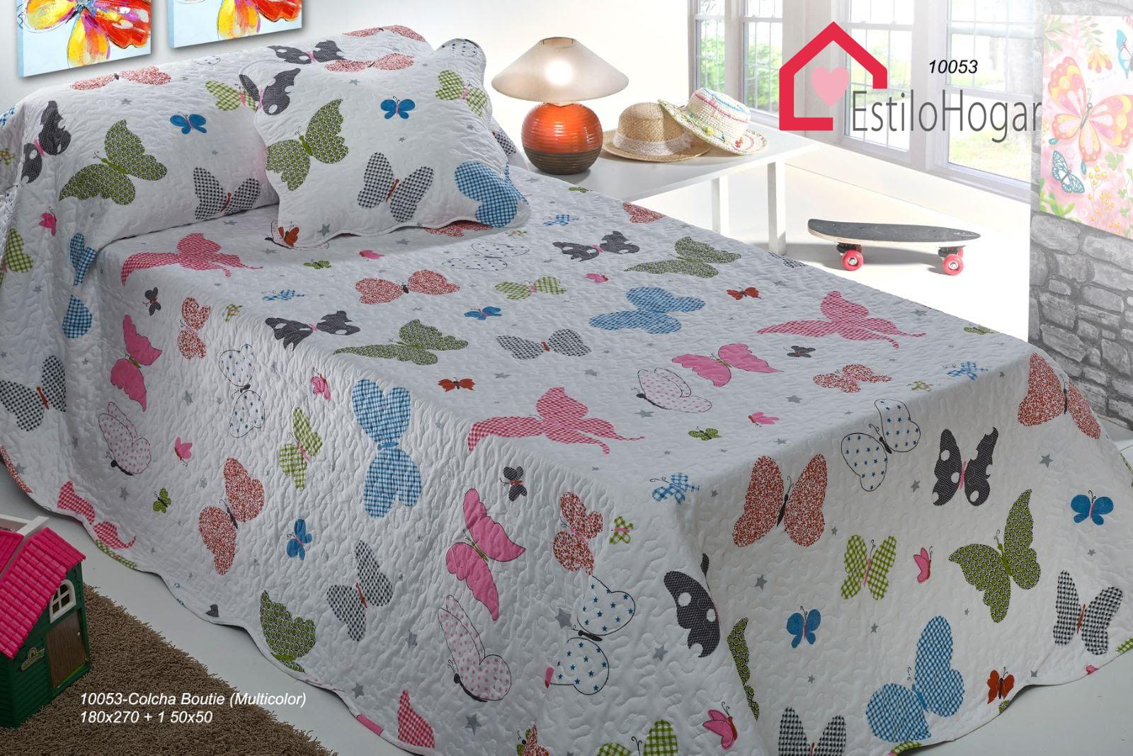 Colcha Bouti Infantil Mariposas