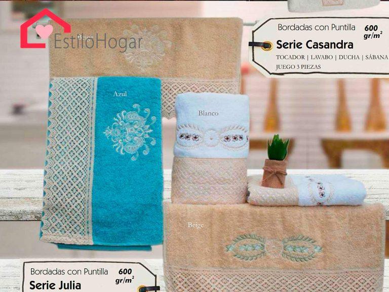 Toallas 3 piezas Modelo Casandra & Modelo Julia
