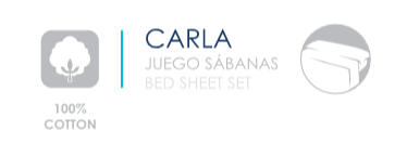 JUEGO DE SÁBANAS ALGODÓN 100% CARLA