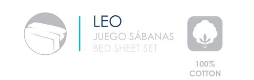 JUEGO DE SÁBANAS ALGODÓN LEO 100%