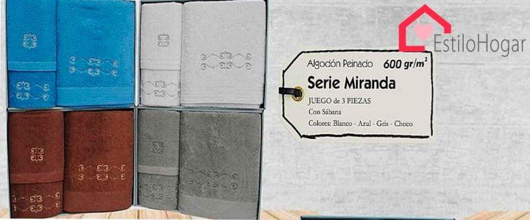 Toallas 3 piezas Modelo MIRANDA