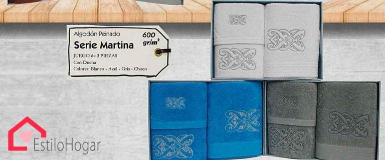 Toallas 3 piezas Modelo MARTINA