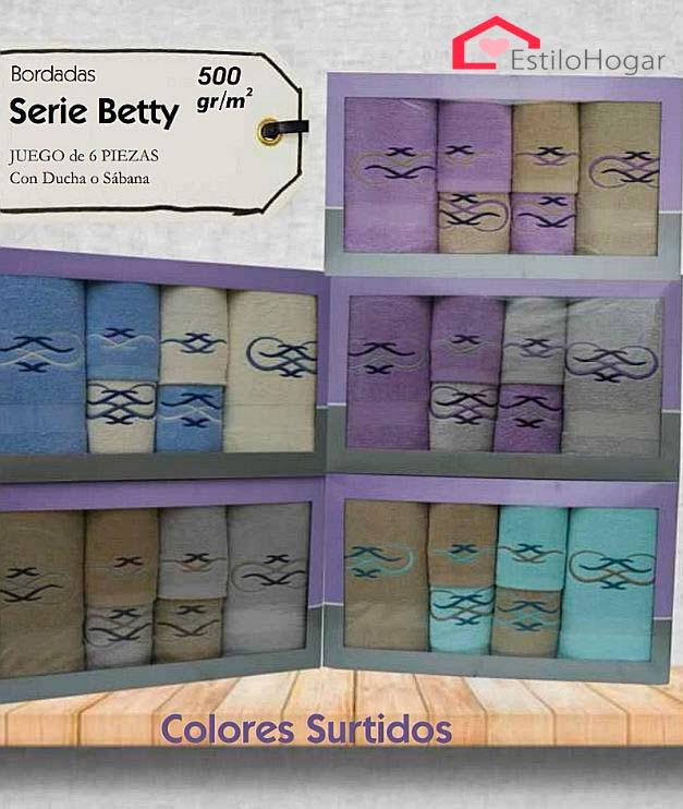 Toallas 6 piezas modelo BETTY