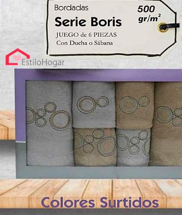 Toallas 6 piezas modelo BORIS
