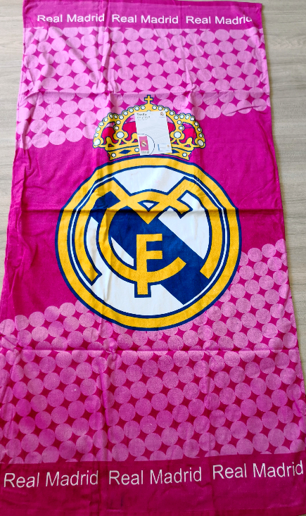 Toalla de Playa REAL MADRID Rosa