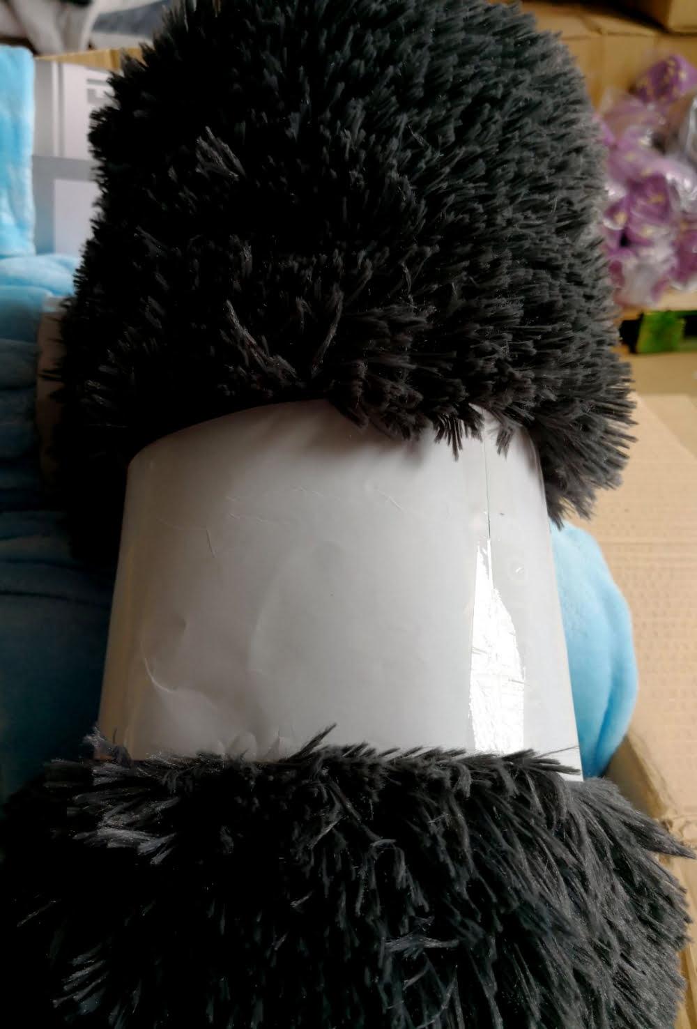 Manta microfibra model Fluff Negro