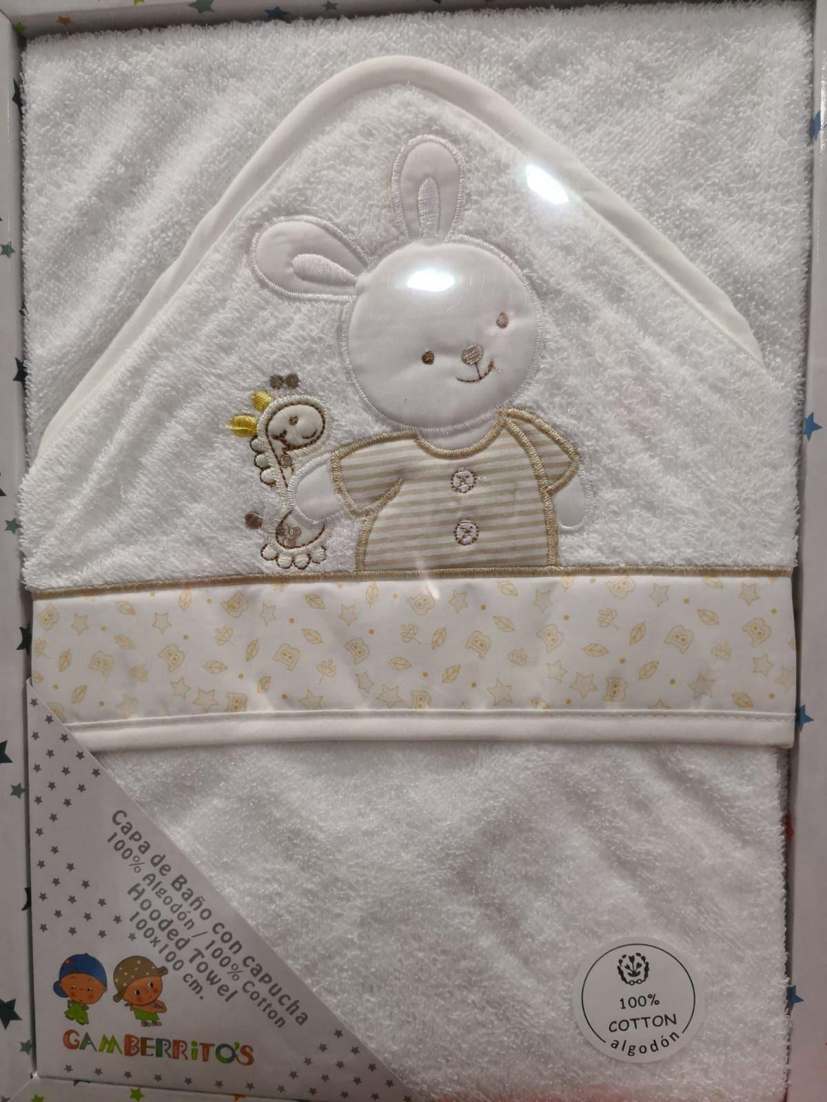 Capa de Baño Conejo Beige