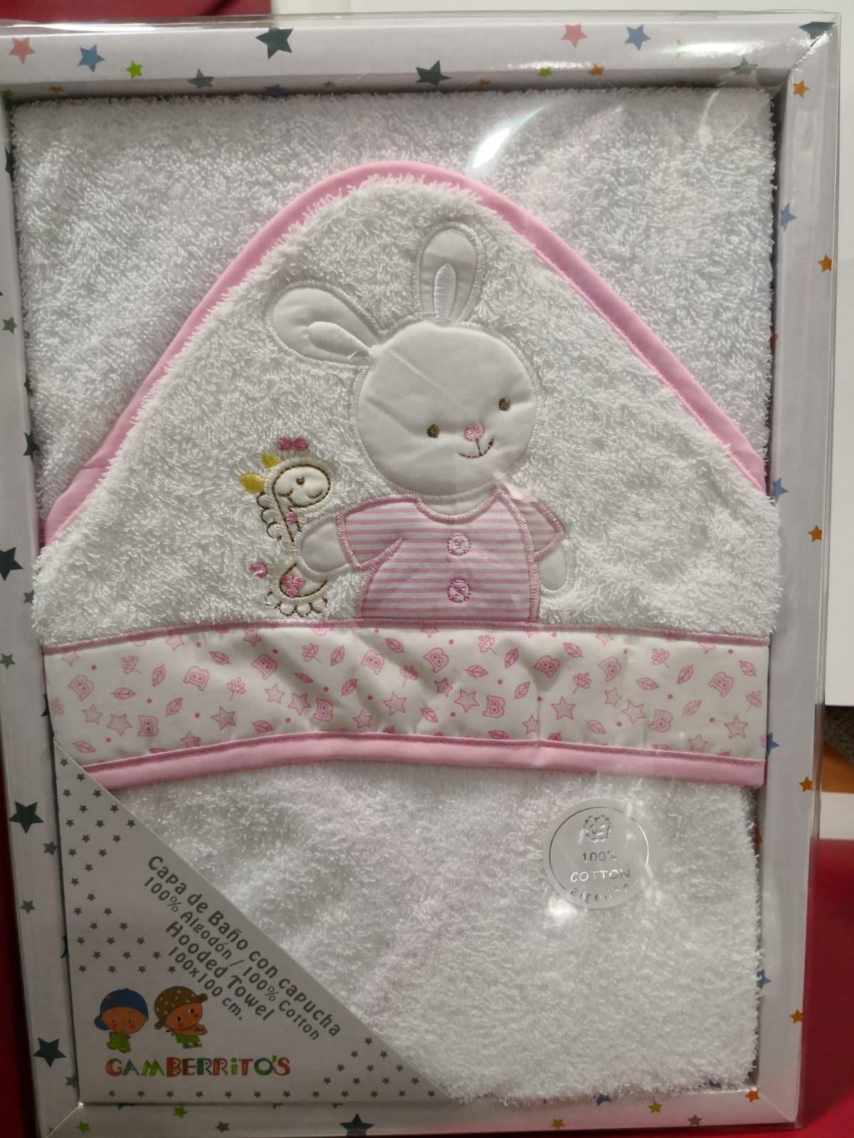 Capa de Baño Conejo Rosa