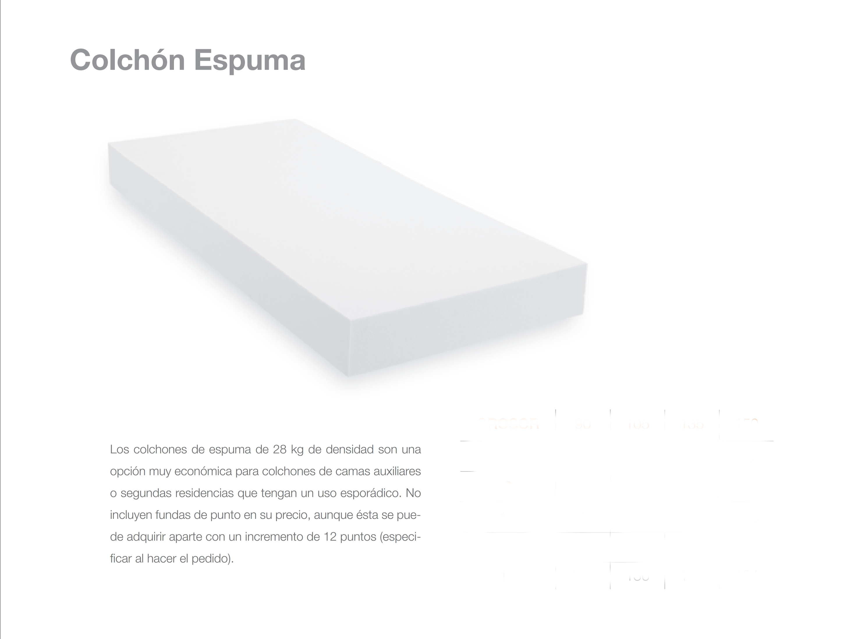 Colchón Espuma