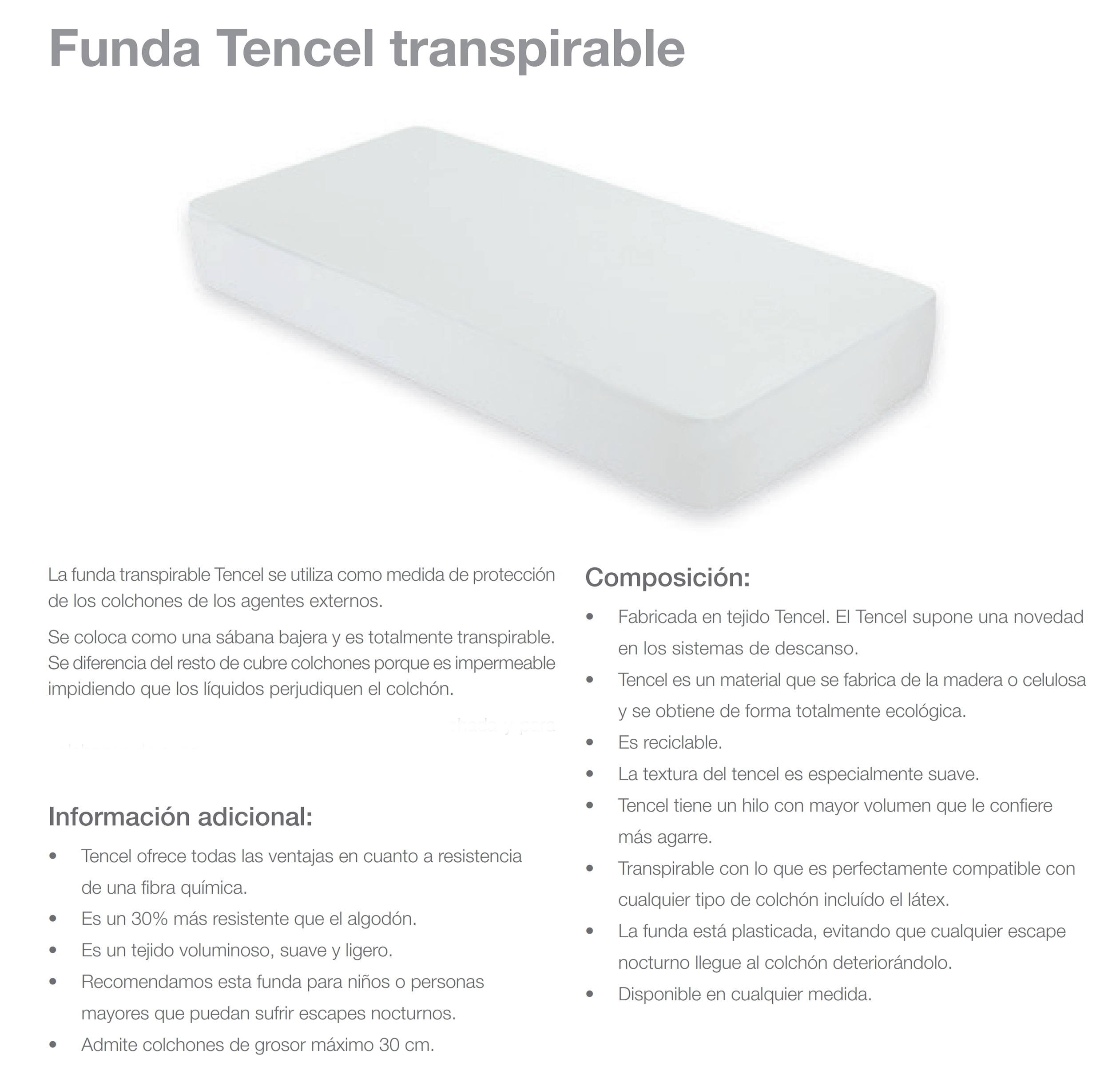Funda Tencel Transpirable
