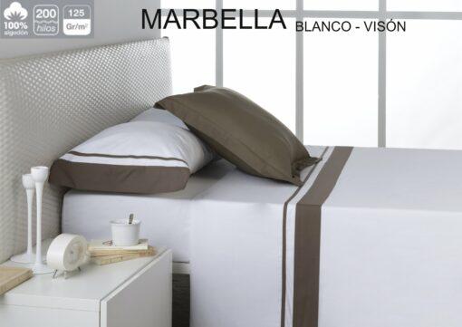 Juego Sábanas Estela Marbella Blanco-Vision