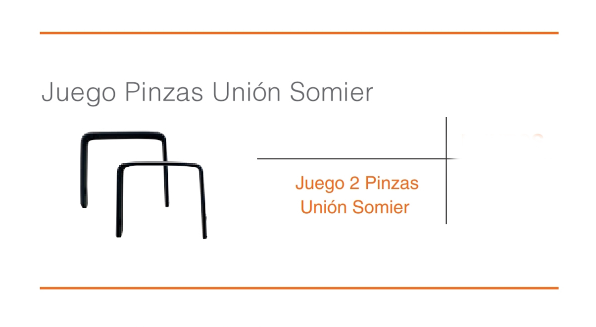 Juego Pinzas Union Somier