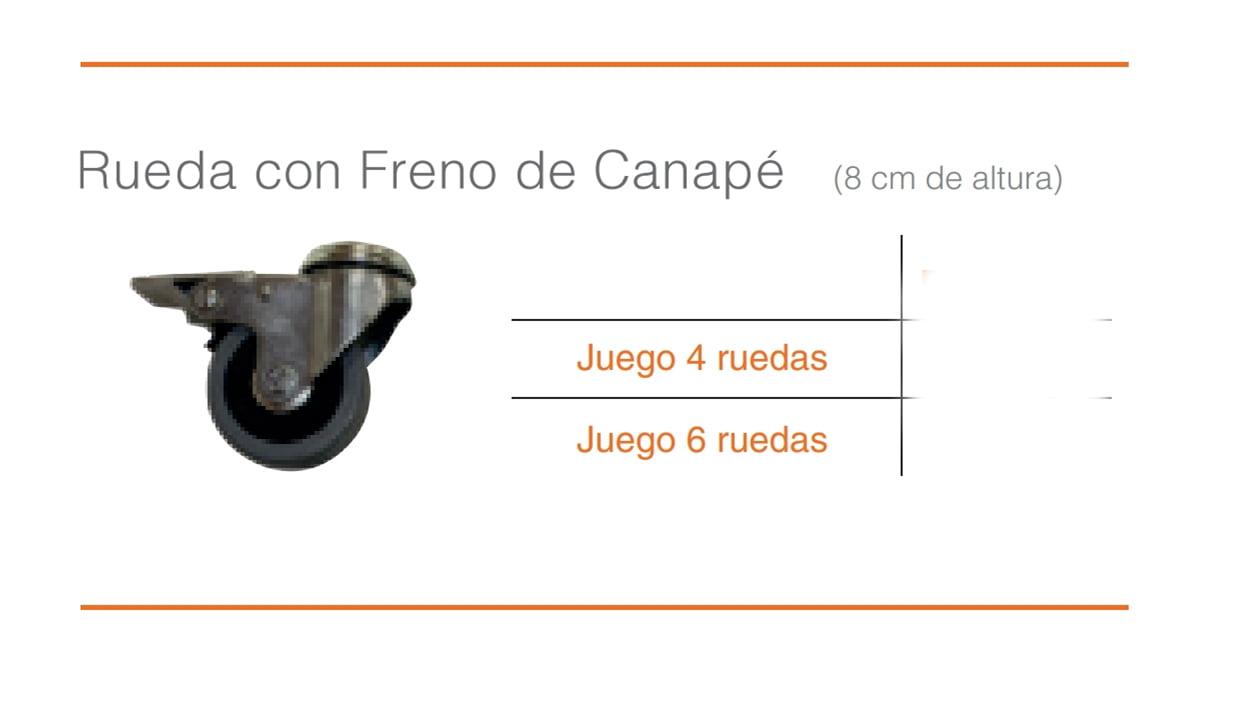 Juego Ruedas Con Freno Canapé