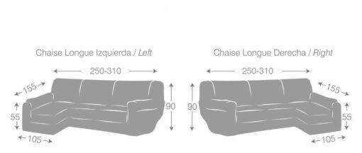 Funda de Chaise Longue Eysa Teide