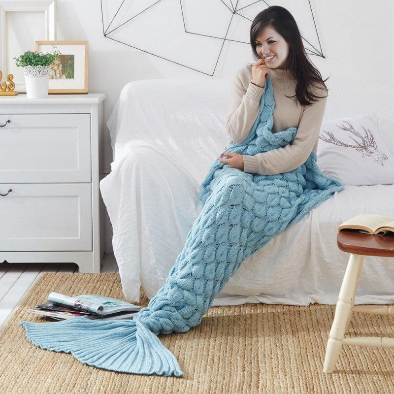 Manta Sirena Coral Azul