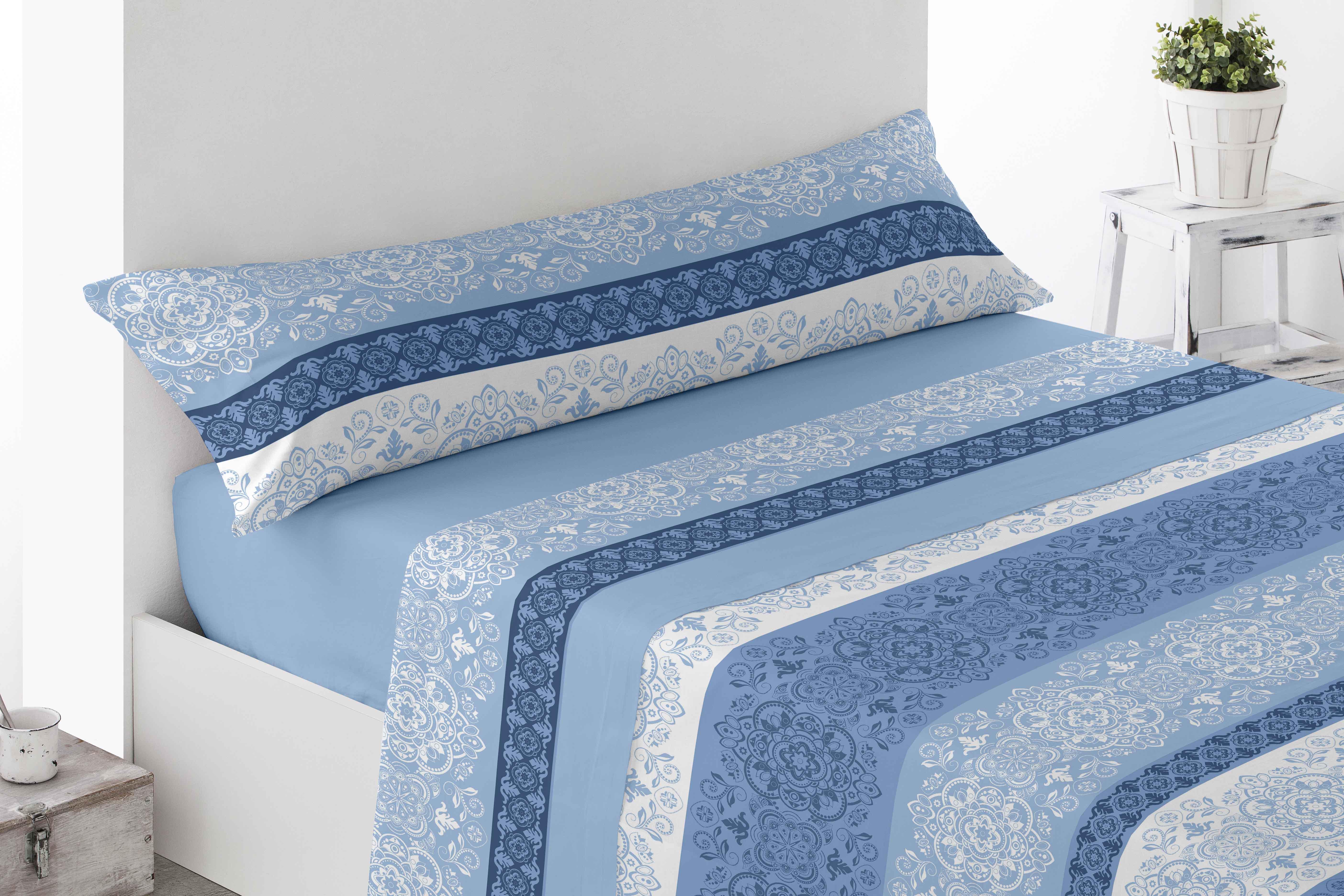 Juego Sábanas Coralina Calera Azul