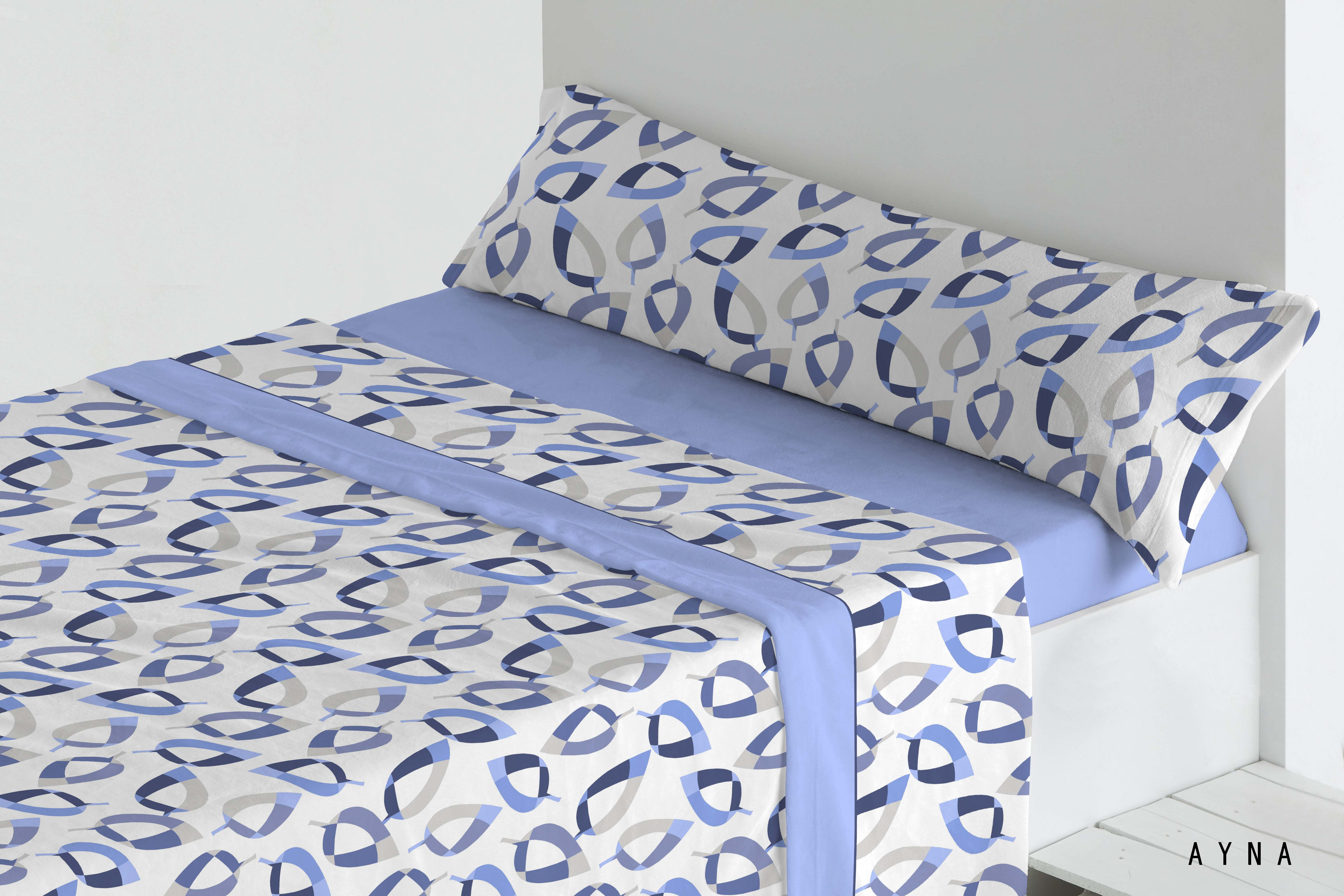 Juego Sábanas Coralina Ayna Azul