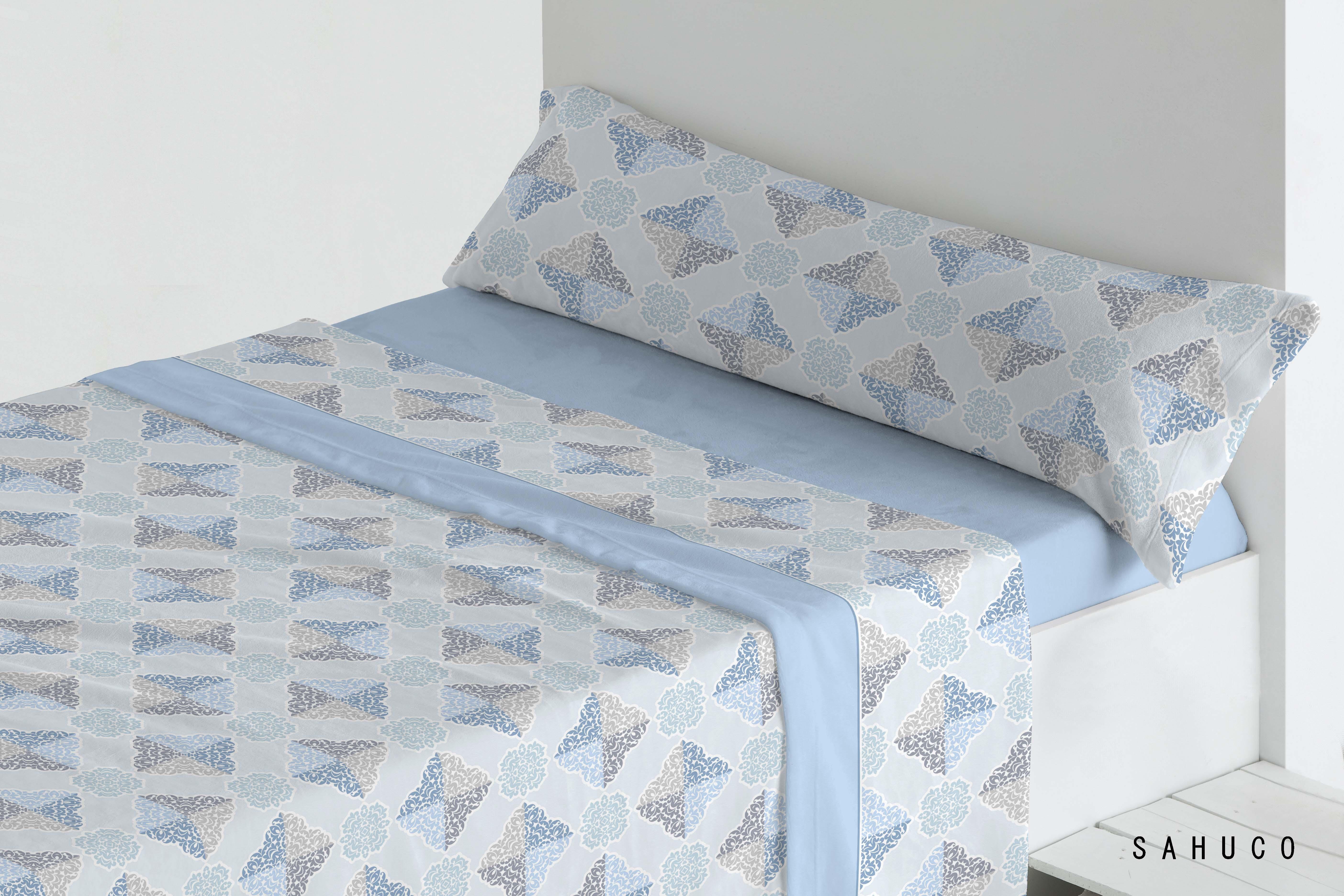 Juego Sábanas Coralina Sahuco Azul