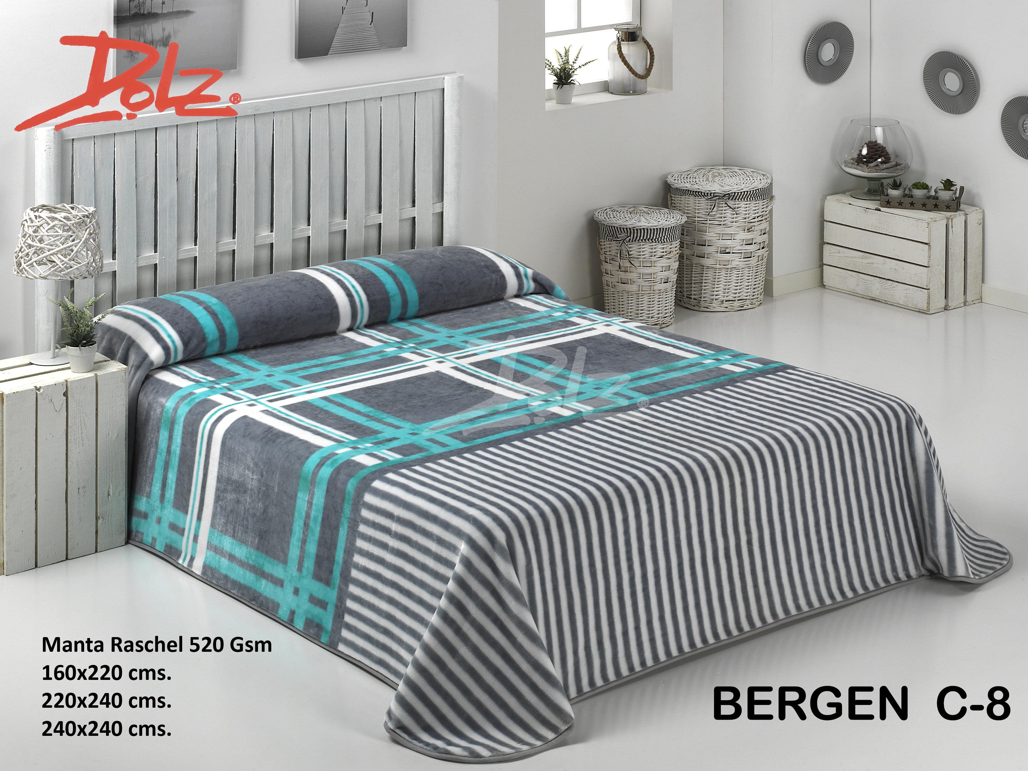 Manta Estampada Bergen C-8