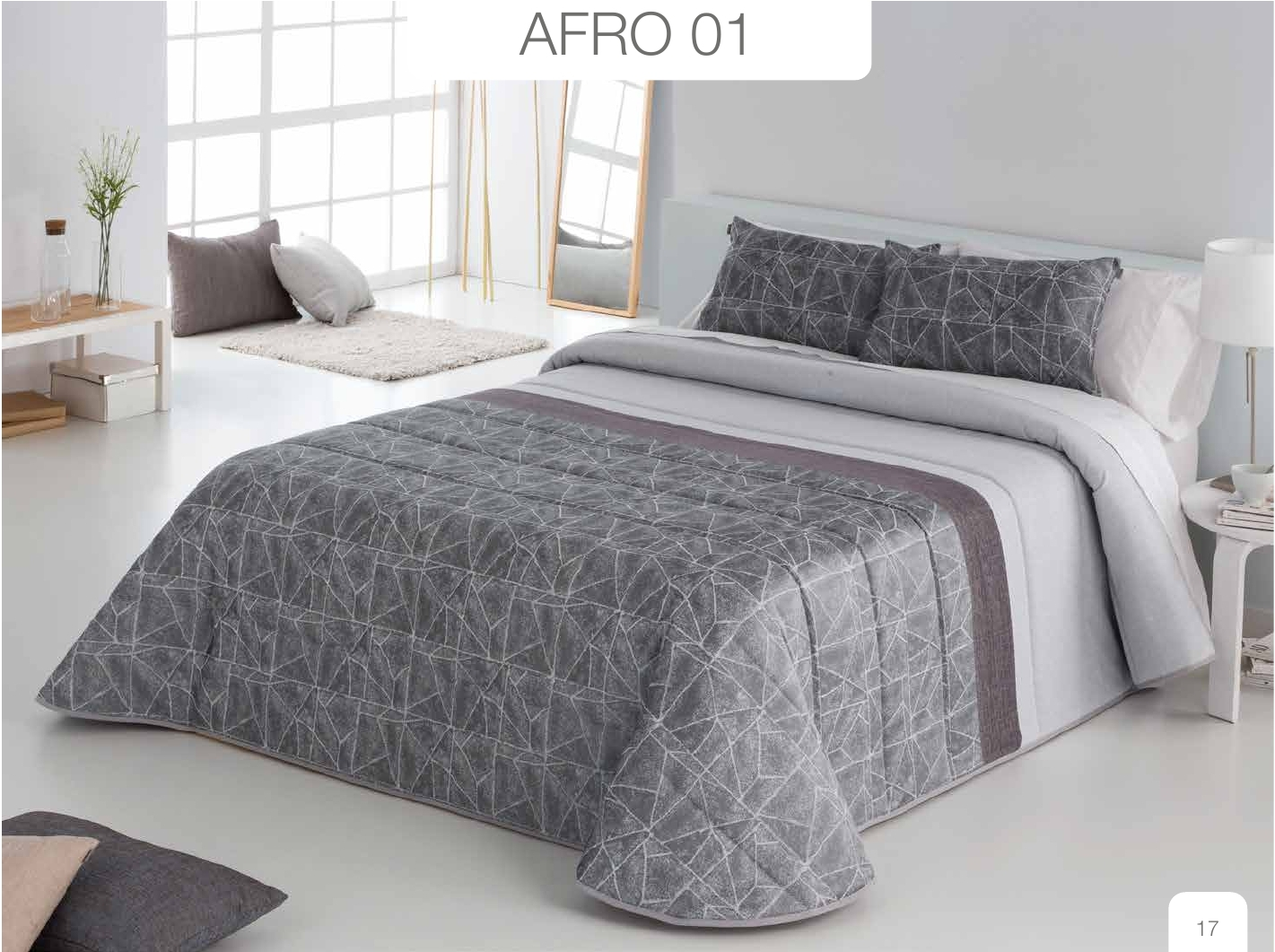 Conforter Bouti Jacquard Afro Gris