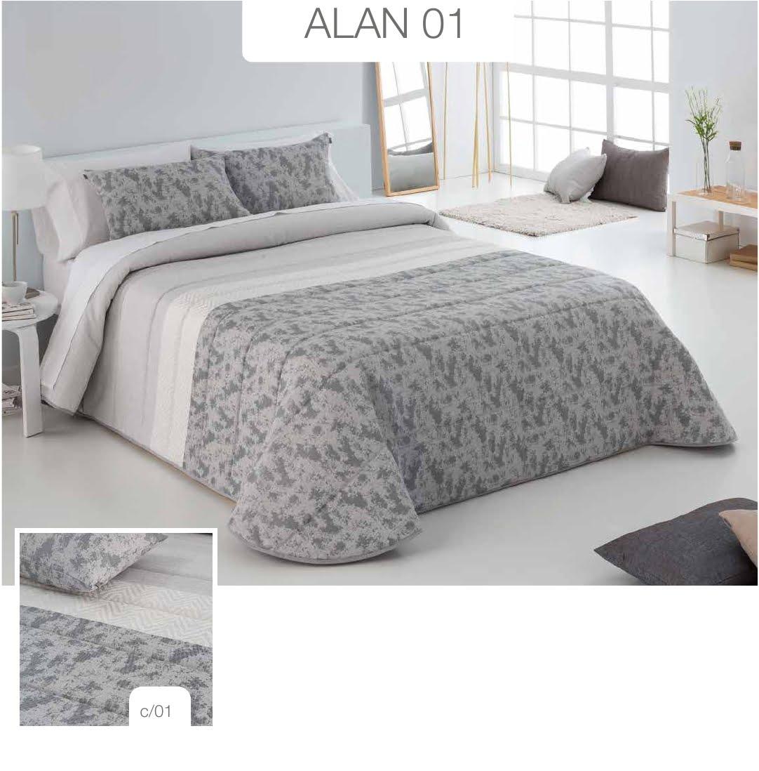 Conforter Bouti Jacquard Alan Gris