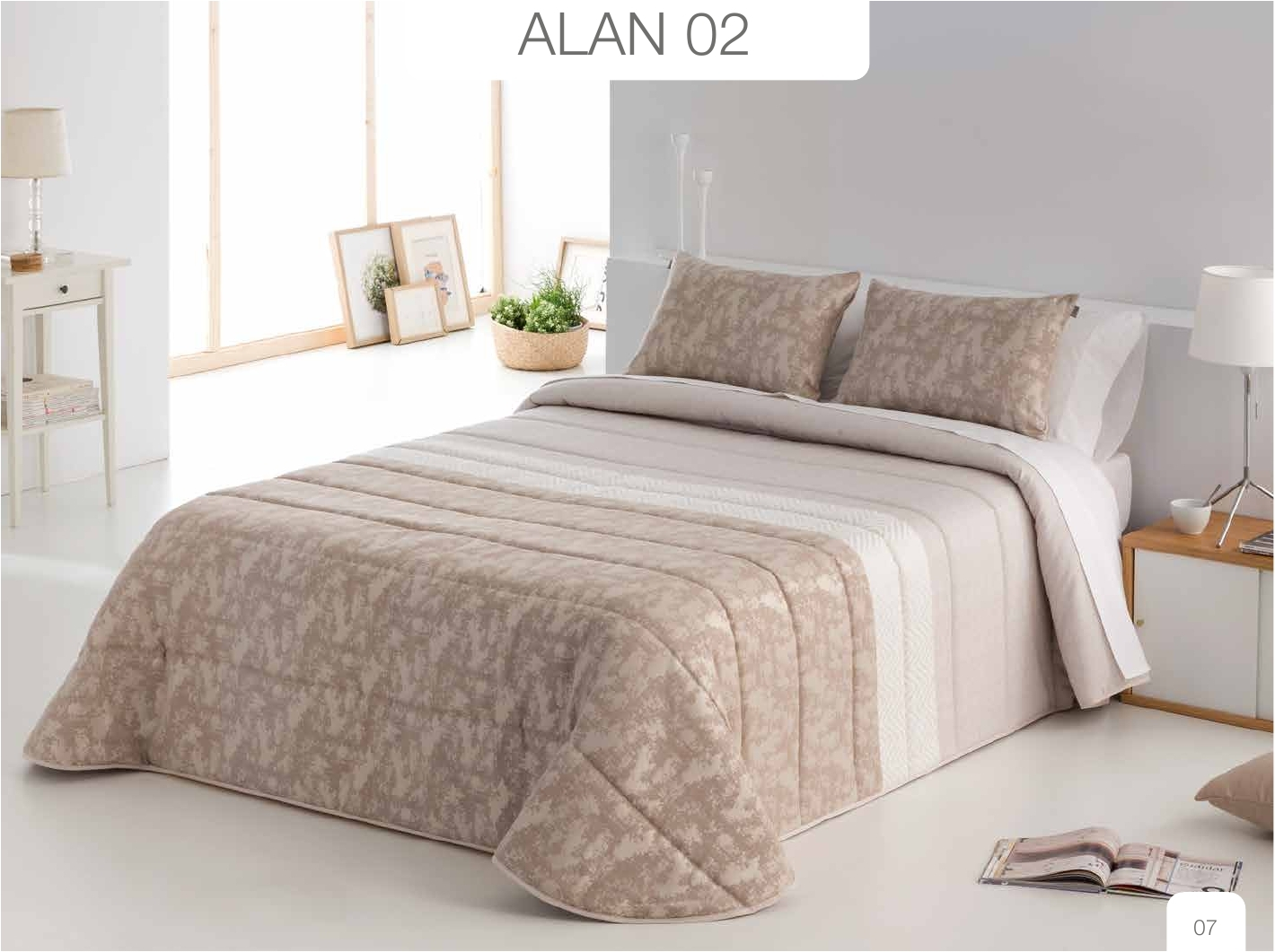 Conforter Bouti Jacquard Alan Rosa