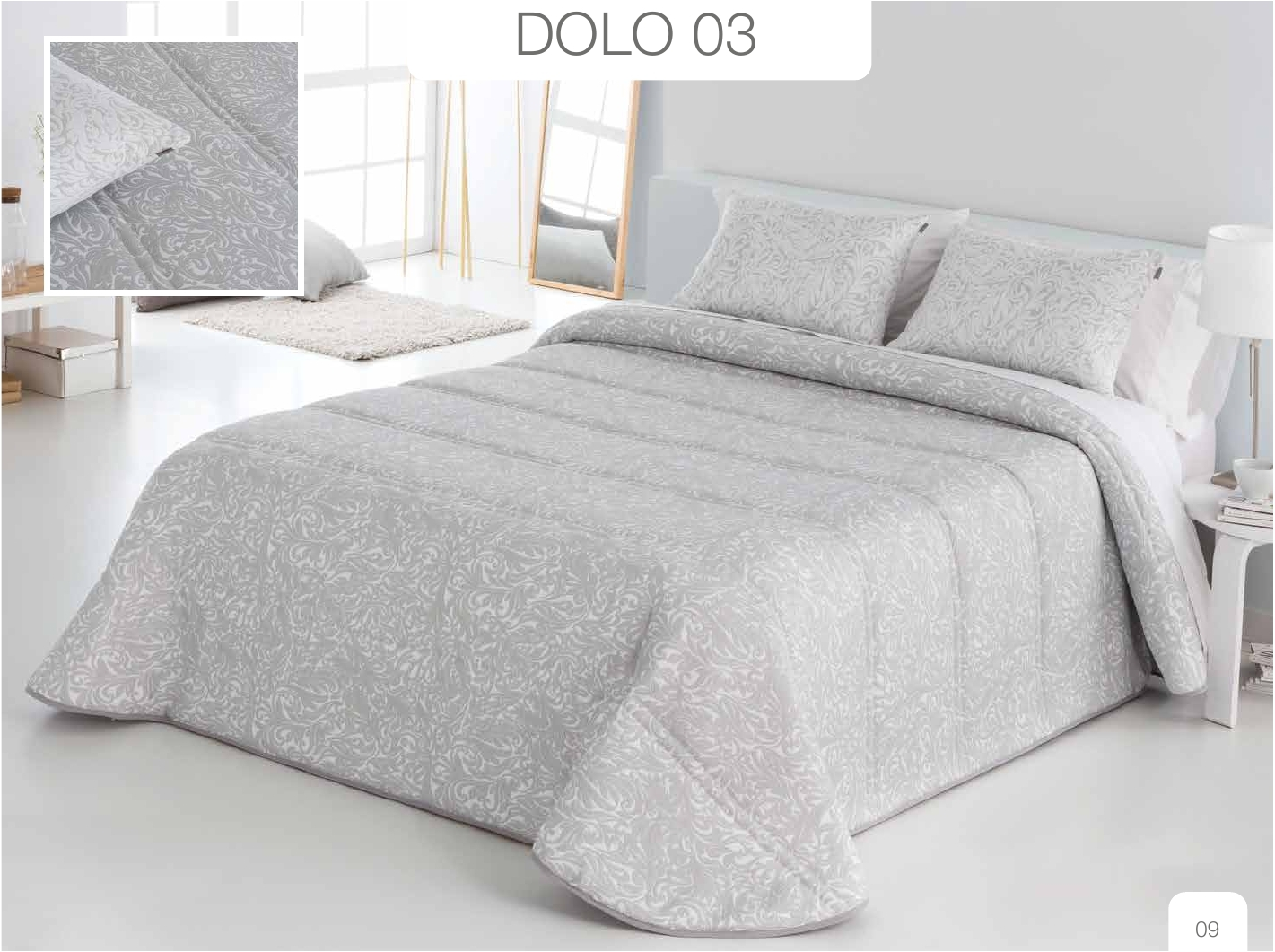 Conforter Bouti Jacquard Dolo Gris