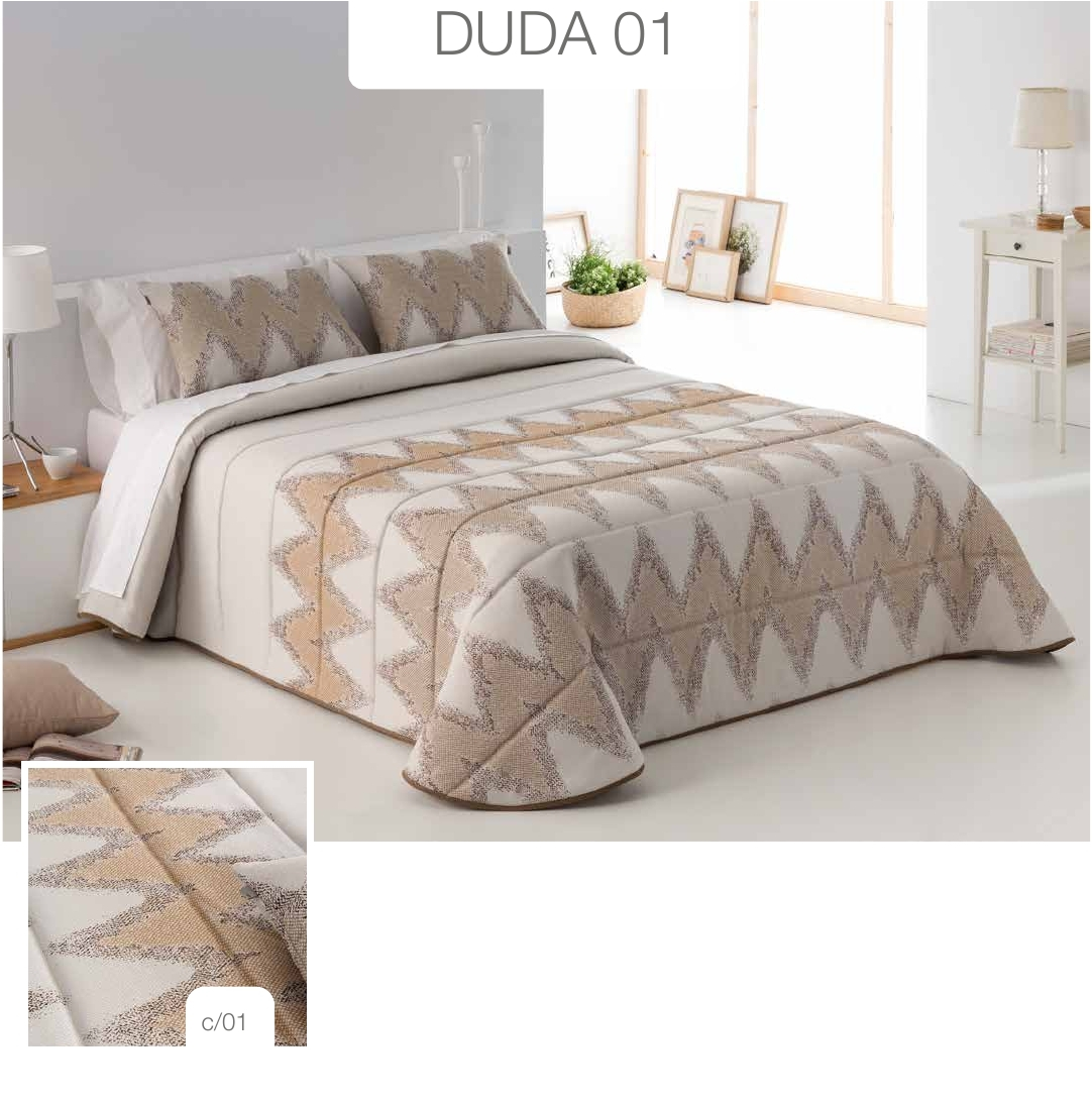 Conforter Bouti Jacquard Duda Marrón