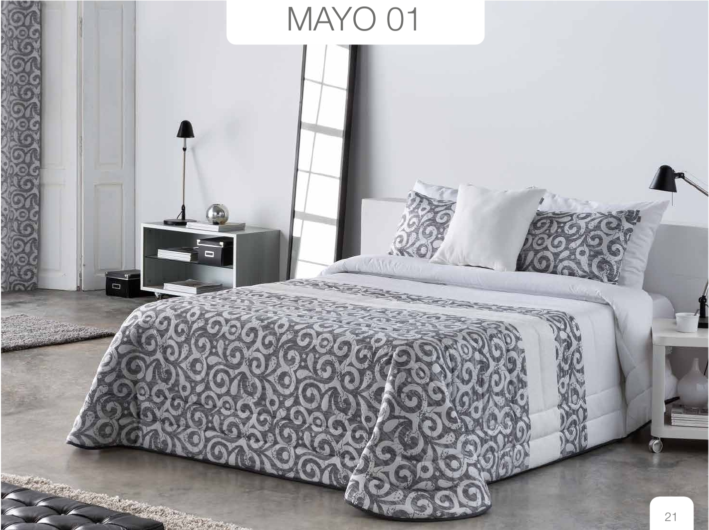 Conforter Bouti Jacquard Mayo Gris