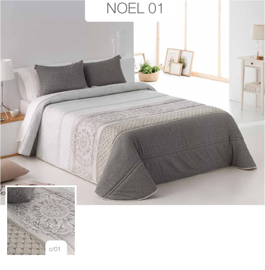 Conforter Bouti Estampado Noel Gris