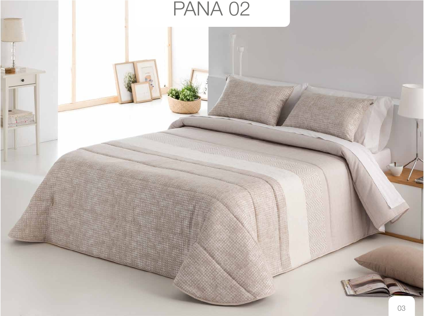 Conforter Bouti Jacquard Pana Beige