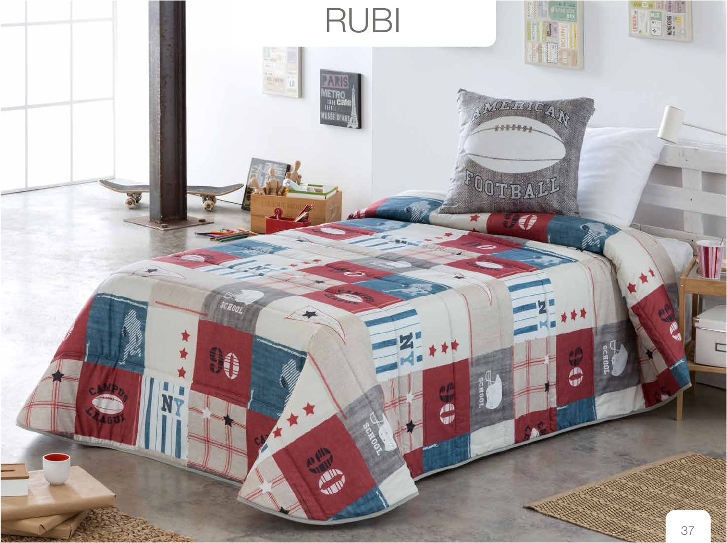Conforter Bouti Estampado Rubi