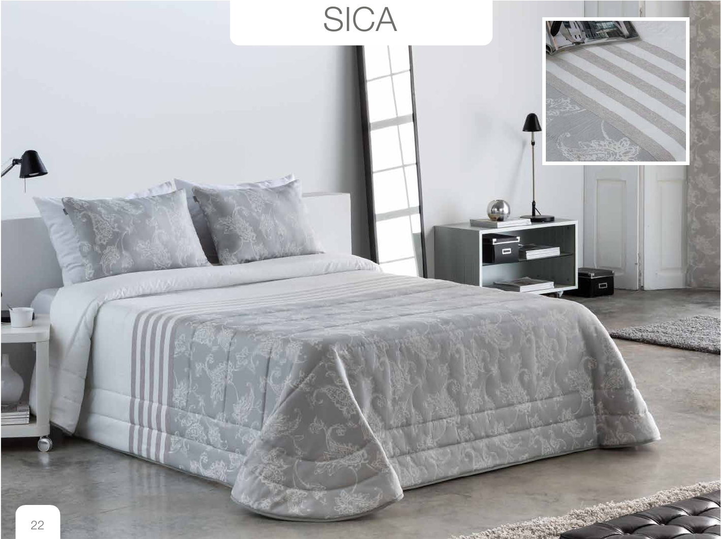 Conforter Bouti Jacquard Sica Gris