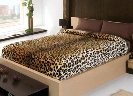 Manta Gala Pieles Leopardo