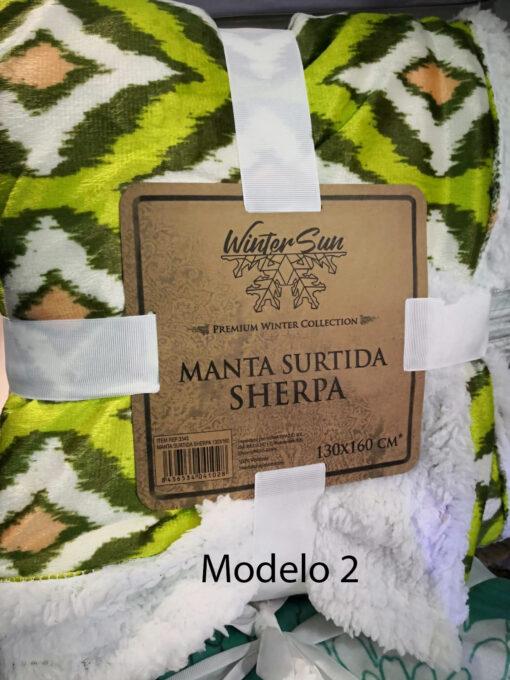 Manta Multiusos Sherpa Estampada