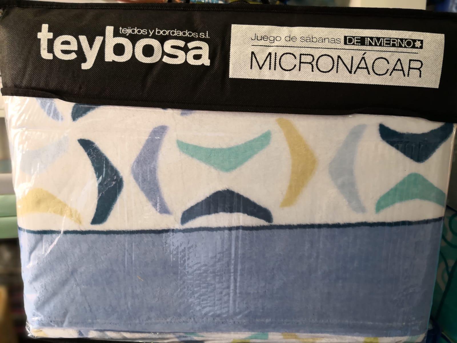 Juego Sábanas Micronacar Arcos Azul