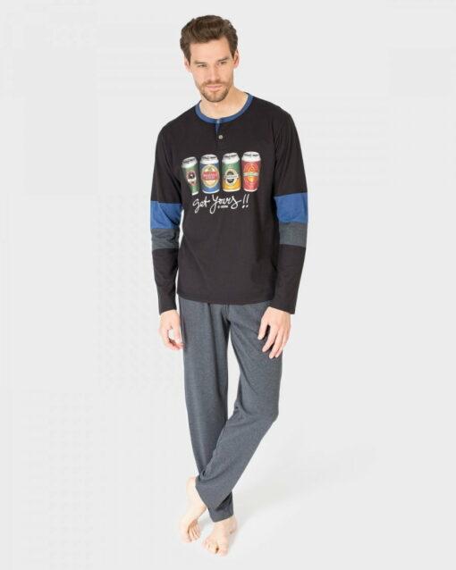 Pijama Hombre Tapeta Negro