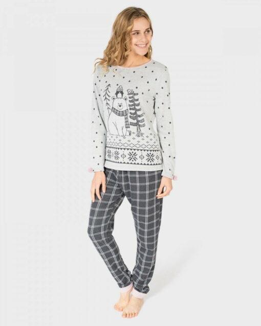 Pijama Mujer Vigore Gris