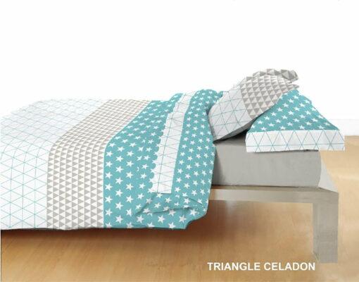 Juego Sábanas Triangle Celadon