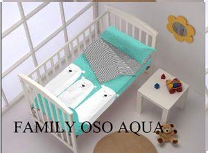Saco Nordico Cuna Family Oso Aqua