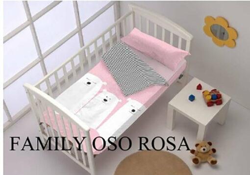 Saco Nordico Cuna Family Oso Rosa