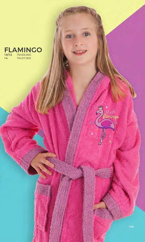 Albornoz Infantil Flamingo