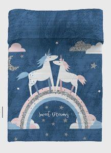 Colcha Bouti Infantil Unicorn Night