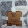Manta Sherpa Gris